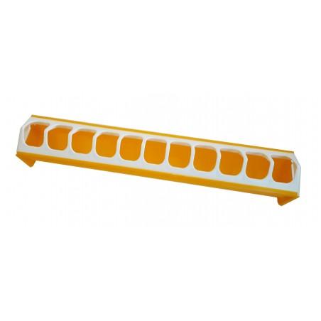 Mangeoire grillage anti-gaspillage en plastique jaune 7x40cm - Benelux