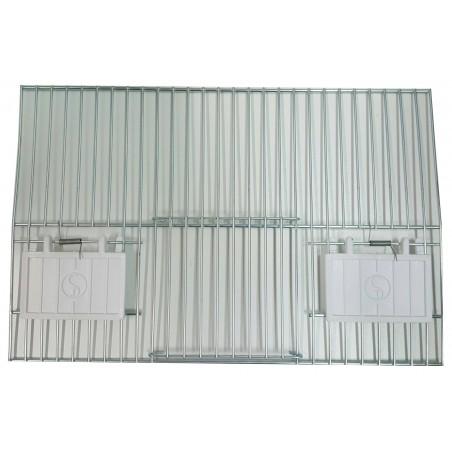 Storefront for cage, training with 1-door and 2-door feeders 33x22cm