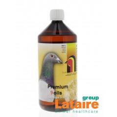 Premium 9-Huiles (oméga 3-6-9)1L - Verhellen pigeons