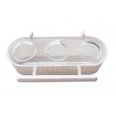 Alimentador de 3 compartimentos 6.5x12.5x4 cm 1427 Benelux 1,30 € Ornibird