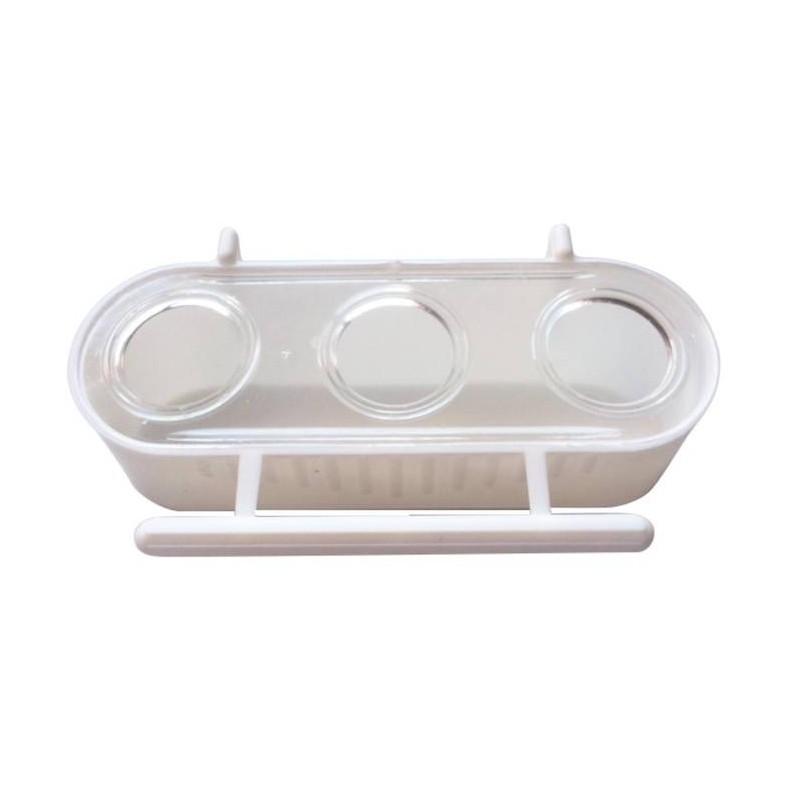 Mangeoire 3 compartiments 6.5x12.5x4 cm