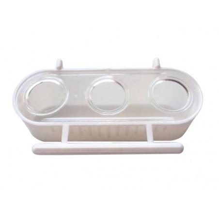 Mangeoire 3 compartiments 6,5x12,5x4 cm