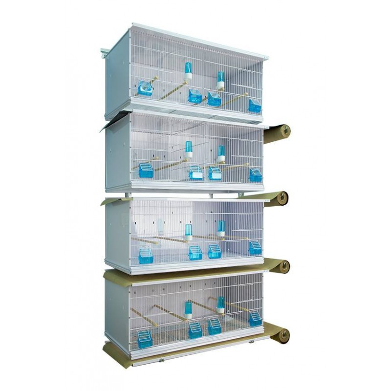 Batterie de 4 cages 90x40x40 sur rouleaux - New Canariz 3402 New Canariz 652,46€ Ornibird