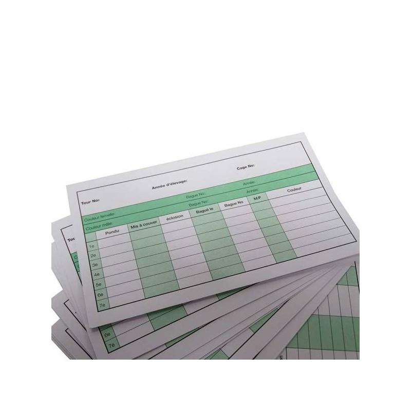 Fact sheet livestock per couple 13x7,6cm - 25 pieces 131010000 Grizo 4,95 € Ornibird