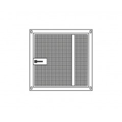 Panel aviary galvanised 95x95cm fence + gate - Sandano 19140 Sandano 108,62 € Ornibird