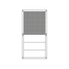 Panel aviary galvanised 95x195cm wire mesh + metal sheet - Sandano 19134 Sandano 85,00 € Ornibird