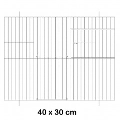 Façade de cage en métal 40x30cm - Fauna