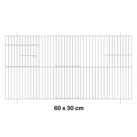 Facade metal cage 60x30cm - Fauna