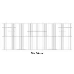 Façade de cage en métal 80x30cm - Fauna