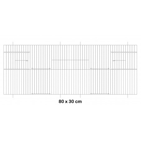 Facade metal cage 80x30cm - Fauna