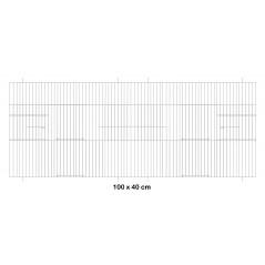 Facade metal cage 100x40cm - Fauna 14656 Fauna BirdProducts 23,35 € Ornibird