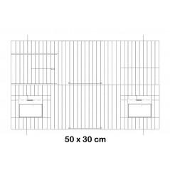 Façade de cage en métal avec portes mangeoires 50x30cm - Fauna
