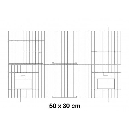 Facade metal cage with doors feeders 50x30cm - Fauna 14614 Fauna BirdProducts 11,15 € Ornibird