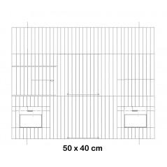 Fachada de la jaula de metal con puertas de alimentadores de 50x40cm - Fauna 14618 Fauna BirdProducts 13,85 € Ornibird