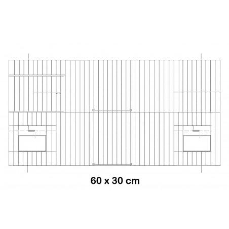 Facade metal cage with doors feeders 60x30cm - Fauna