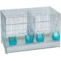 Cage Domus Molinari avec tiroir en plastique et 2 compartiments 55x32x36cm