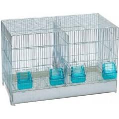 Cage Cova avec tiroir en plastique et 2 compartiments 55x32x37cm