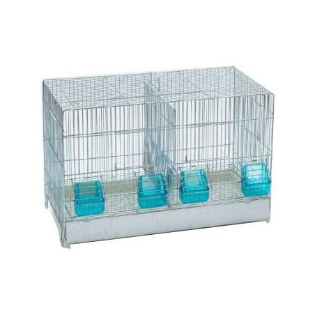 Cage Cova avec tiroir en plastique et 2 compartiments 55x32x36cm