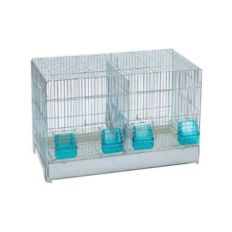 Cage Cova with drawer, plastic, 2 compartments 55x32x36cm