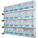 Batteries de 12 cages 58x30x36 - Modèle Victoria - New Canariz
