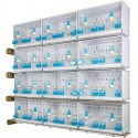 Battery of 12 cages 58x30x36 - Model Victoria - New Canariz