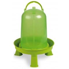Abreuvoir sur pieds basse-cours vert 8 litres - Benelux