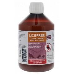 Licefree liquide concentré (contre des mites et des poux) 500ml - Licefree