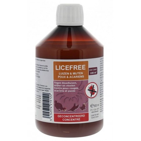 Licefree concentrated liquid (against mites and lice) 500ml - Licefree 21012 Licefree 35,71 € Ornibird