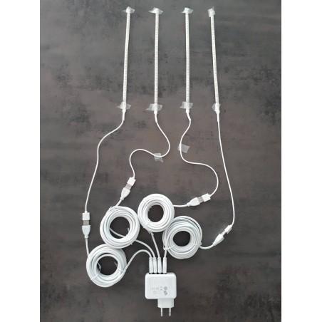 Système d'éclairage USB - 4 bandes à Leds de 30cm - Plug and Play - Ornibird