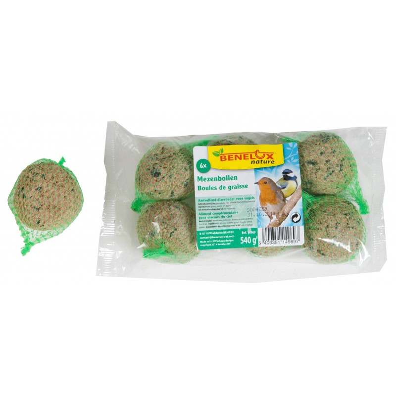 Grease balls Bag 6x90G 14969 Benelux 1,07 € Ornibird