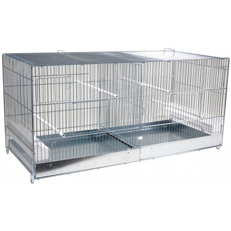 Cage Cova Metal 2 Compartments 90x40x45cm