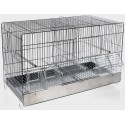 Cage Cova Metal 2 Compartments 55x32x37cm
