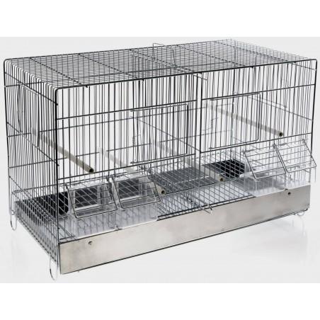 Cage Domus Molinari Métal 2 Compartiments 55x27x35cm