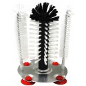 Bottle brush set with stand anti-slip