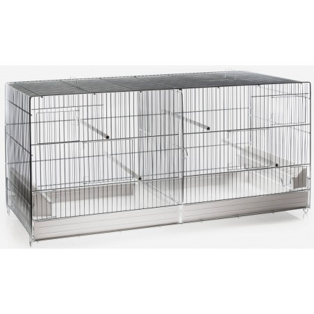 Cage Cova Metal 2 Compartments 120x40x45 cm