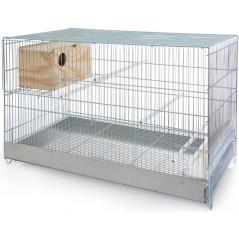 Cage Cova pour inséparables avec nid 46x40,5x71cm - Benelux