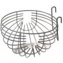 Nid en métal large + crochets 12cm