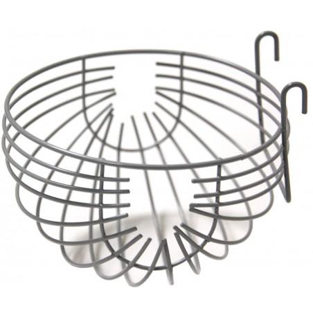 Nest in wide metal + hooks 12cm