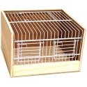 Cage de transport bois type Domino 25cm