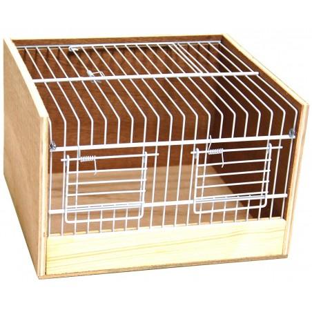 Cage transport wood type Domino 25cm