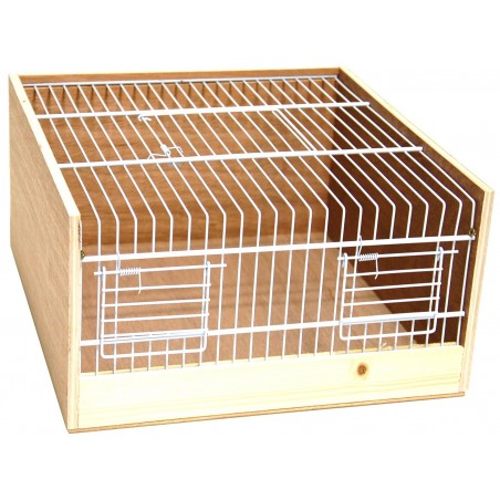 Cage transport wood type Domino 30cm