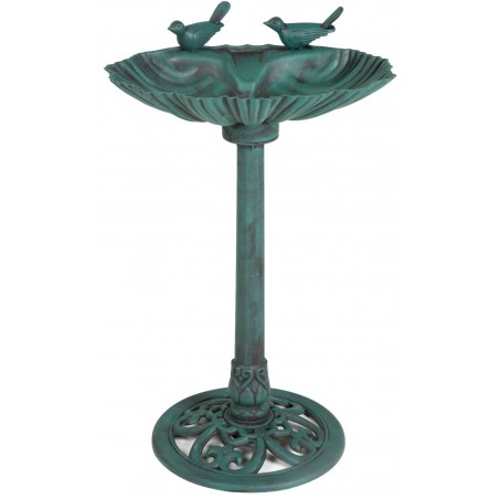 Fountain outdoor plastic with 1 bird