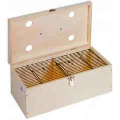 Cageot fermé en bois pour oiseaux 42 x 24 x 16cm