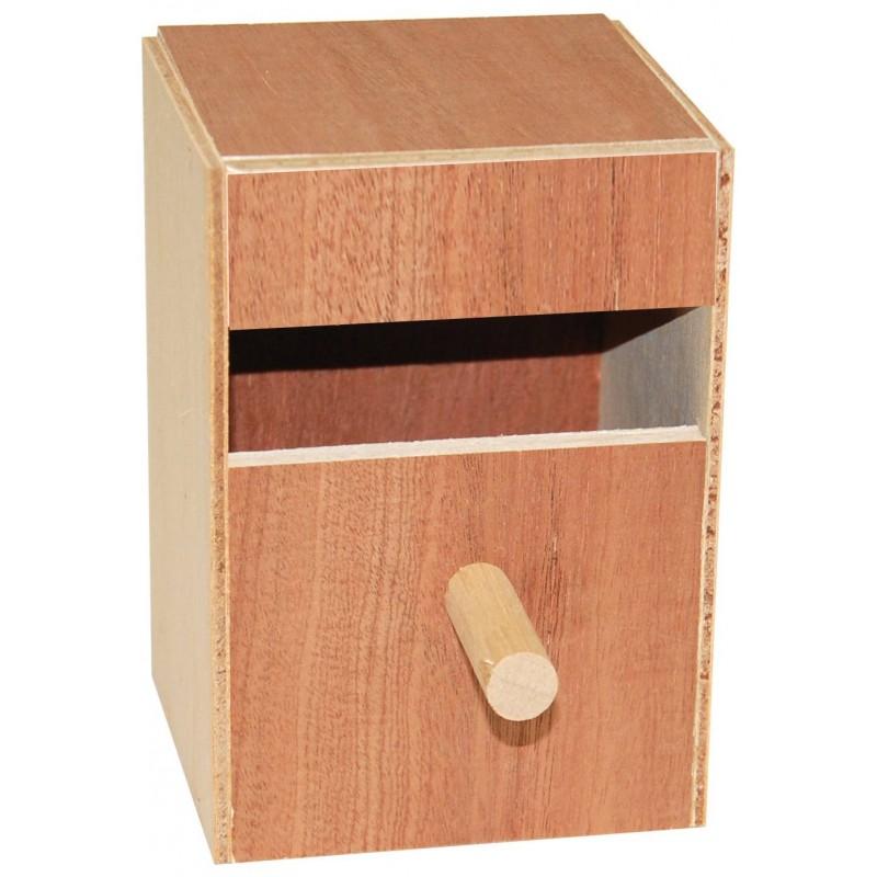 Nid en bois exotiques 11 x 10,5 x 6cm
