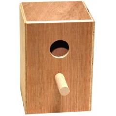 Nid en bois exotiques 11 x 10,5 x 16cm