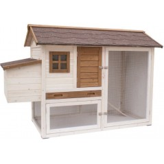 Chicken coop in wood Olivia white/brown - Benelux 24186 Benelux 266,17 € Ornibird