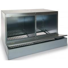 Trogolo doppio con vassoio raccoglitore in acciaio zincato - Benelux 24602 Benelux 57,55 € Ornibird