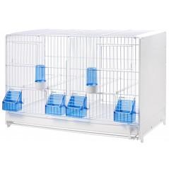 Cage d'élevage démontable en métal avec côtés en plastique 58x30x39cm - 2G-R