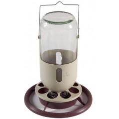 Abreuvoir lampe de mineur en verre avec crochet en métal 1L - Duvo