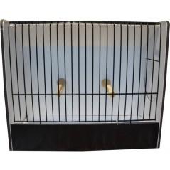 Cage exposition canari noir en PVC